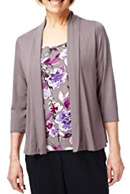 Classic Collection Boulevard Floral Mock Layer Top [T58-9304-S]