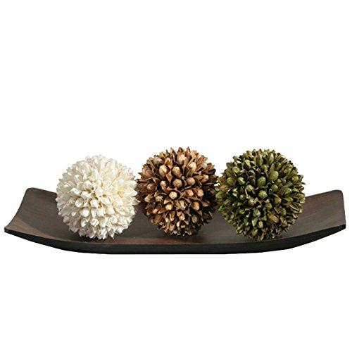 Exotic Elegance Bodhi Leaf Form Decorative Coconut Wood