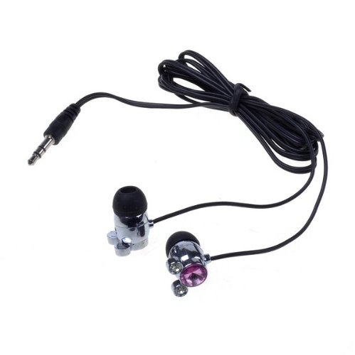 Neewer 3.5Mm Compact Crystal Pink Diamond In-Ear Stereo Earphone For Ipod Mp3 Mp4