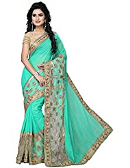 Red Carpet Designer Sarees For Women Party Wear Offer Sarees ( Green )