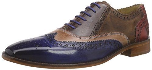 Melvin & HamiltonJeff 11 - Scarpe stringate Uomo , Multicolore (Mehrfarbig (Infant Eletric Blue, Rose, Mid Brown, Red, LS)), 42