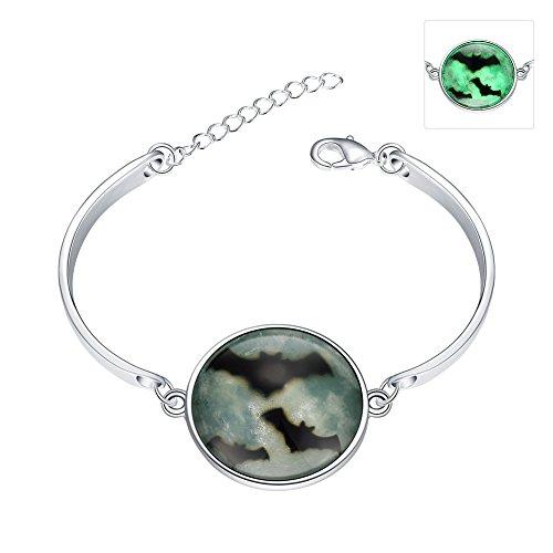 lureme® Nuovo Magical Glow in the Dark Luminous Halloween Bat Night Charms Bracelets(06002981-9)