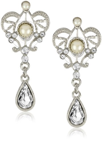 1928 Bridal Amore Queens Cut Bridal Earrings