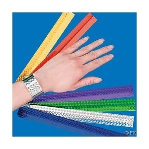 12 Diamond Metallic Slap Bracelets - 1