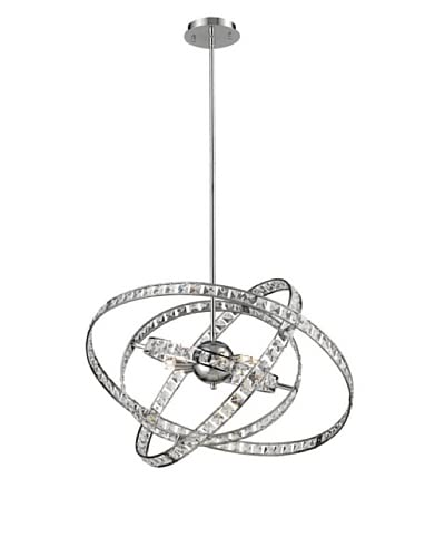 Artistic lighting 6-Light Crystal Pendant Lamp, Clear/Chrome