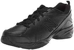 New Balance KX624 Lace-Up Training Shoe (Little Kid/Big Kid),Black,6 W US Big Kid
