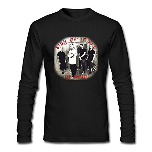Men's Sick of It All Design Long Sleeve T Shirt