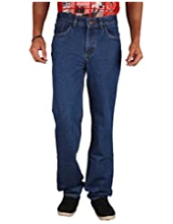 U.S. Rugby Blue Rinsed Not Stretchable Denim Regular Fit Men's Jeans