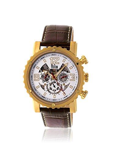 Reign Men's REIRN1905 Alpin Gold-Tone/Dark Brown Leather Watch