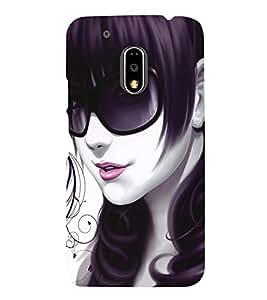 printtech Cute Beautiful Girl Back Case Cover for Motorola Moto G4 Plus / Motorola Moto G4