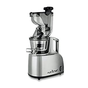 NutriChef PKSJ40 Countertop Masticating Slow Juicer Juice and Drink Maker, Stainless Steel from Nutrichef