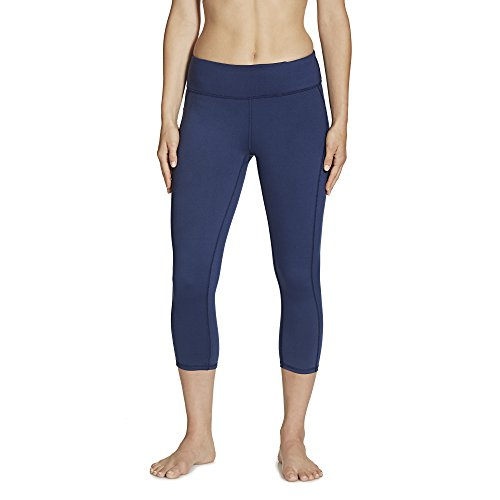 Gaiam Women's Luxe Yoga Capri Solid, Midnight, Medium