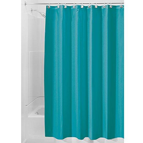 interdesign-14651eu-spakresistenter-wasserabweisender-duschvorhang-stoff-turkis-183-x-0254-x-183-cm