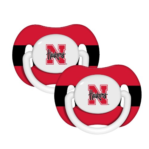 NCAA Nebraska Cornhuskers 2 Pack Pacifier - 1