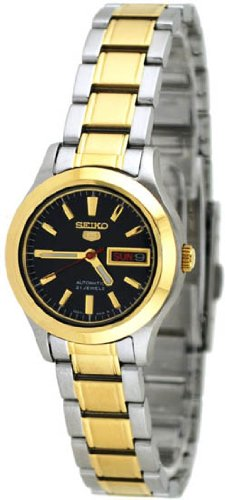 Buy Sweetest Lady Watch Clearance Two Tone Seiko 5 Automatic Black Dial