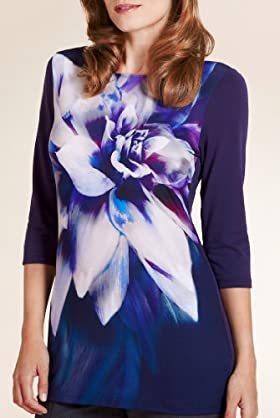 Per Una Slash Neck Floral Print Tunic [T62-8411I-S]
