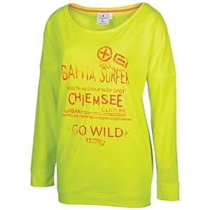 Chiemsee Damen Longsleeve Sweatshirt Goya, 1060013, Safety Yellow, Gr. S