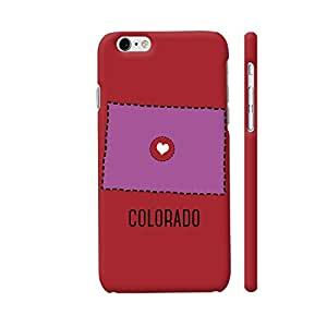 Colorpur Colorado State Heart Designer Mobile Phone Case Back Cover For Apple iPhone 6 / 6s | Artist: Torben