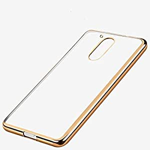 FONTUS™ Transparent Back with Multi TPU Bumper Moto G Plus 4th Gen (G40) Case And Cover for Gold Border
