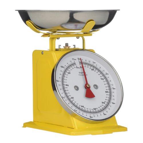 Premier Housewares 0807087 Balance de Cuisine Acier Inoxydable Jaune 5 kg