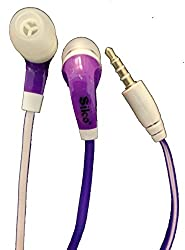 Silco Eco Series Stereo Super Bass Ear phone/ Hands free for Samsung, Apple, HTC, Sony etc_Purple