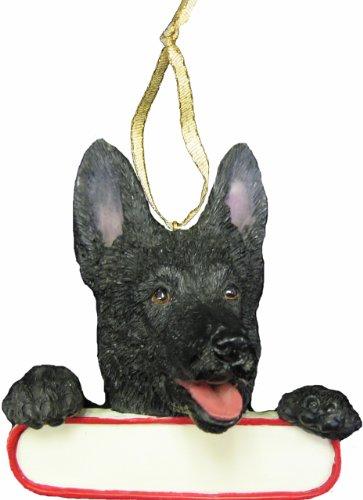 German Shepherd Ornament Black