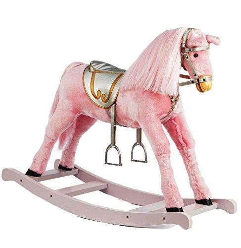 Mädchen Medium Größe Pink Schaukelpferd -