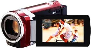 JVC GZ-HM440REU Full HD Camcorder (SD-Kartenslot, 40-fach optischer Zoom, 6,9 cm (2,7 Zoll) Display, HDMI-Kabelanschluss) rot