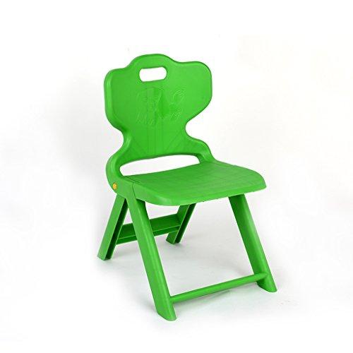 Sun lamps- Sedie per bambini panca pieghevole variopinta creativa sedia speciale di sicurezza sedia di plastica pieghevole per bambini ( colore : Verde )