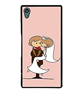 Married Couple Clipart 2D Hard Polycarbonate Designer Back Case Cover for Sony Xperia Z5 :: Sony Xperia Z5 Dual