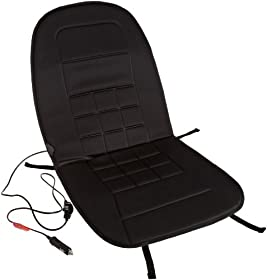 AmazonBasics 12-Volt Black Heated Seat Cushion with 3-way Temperature Controller