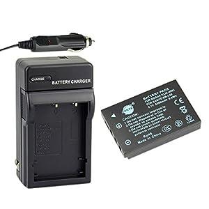 DSTE® DB-L50 Battery + DC29 Travel and Car Charger Adapter for Sanyo DMX-WH1 VPC-HD2000 DMX-HD1010 DMX-FH11 VPC-WH1 DMX-HD2000 VPC-HD1010 VPC-HD1000 Camera as Kodak KLIC-5001