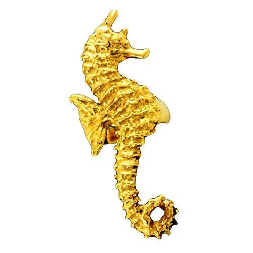 Gold Vermeil Right Only Ocean Sea Horse Ear Cuff