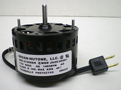 NuTone 86322000 Motor assembly for QT series bath fans, by NuTone
