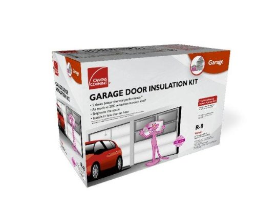 Owens-Corning 500824 Garage Door Insulation Kit, Includes R-8 Fiberglass Panels with White Vinyl Facing, Insulates Single Garage Door Up To 9-Feet Wide (Garage Door Insulation Kit 20 compare prices)
