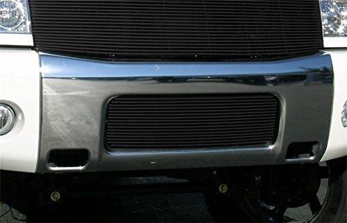 t-rex-grilles-25780b-horizontal-aluminum-black-finish-billet-bumper-grille-bolt-on-for-nissan-titan-