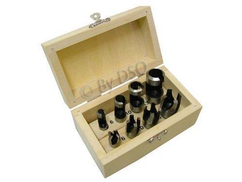 Toolzone 8Pc Wood Plug Cutters In Wood Box