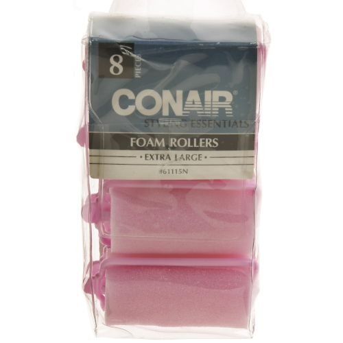 Conair Extra Large Foam Rollers - 8 Rollers (Conair Foam Rollers Extra Large compare prices)