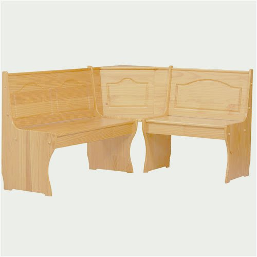Linon Chelsea Kitchen Nook Corner Unit, Honey Pine