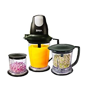 Ninja Master Prep Professional Blender, Chopper and Ice Crusher: More Power & 2 Times Faster & Recipe Book Included
