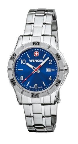 Wenger - 01.9211.104 - Montre Femme - Quartz Analogique - Aiguilles lumineuses - Bracelet Acier Inoxydable Argent