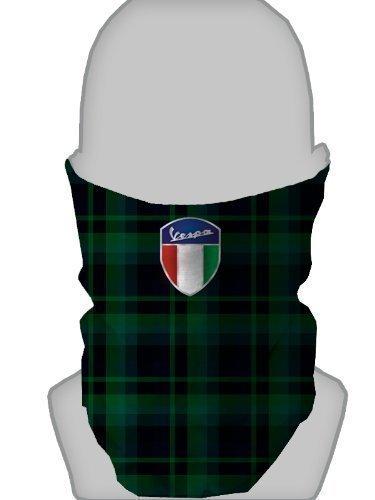 snood-neck-warmer-face-mask-blackwatch-tartan-green-silver-vespa-shield-design-made-in-yorkshire