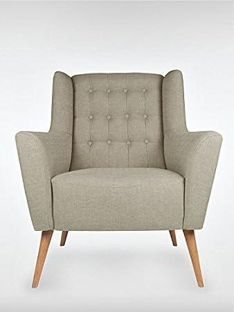Retro Sessel Polstersessel Westhampton grau 83 x 95 x 73 cm roombird