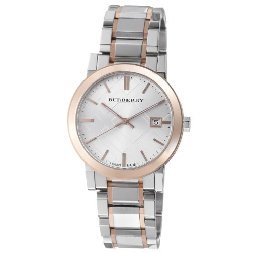 burberry men s bu9006 large check two tone stainless steel