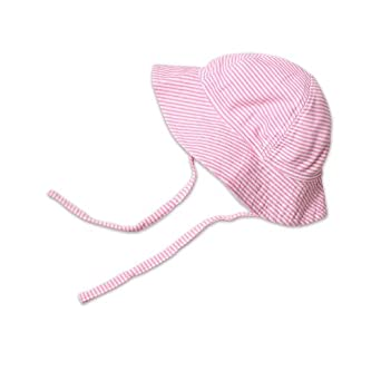 Zutano Baby-girls Infant Sun Hat Candy Stripe, Hot Pink, 6 Months