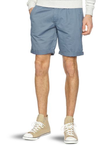 Farah Vintage The Albany Twill Men's Shorts Grey Blue W30 IN