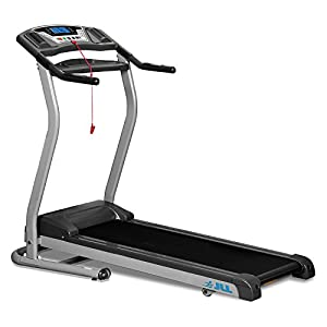 JLL D100 treadmill with digital motor technology, Two men delivery included, 4.5HP motor and 16 km/h max. speed with 5 years guarantee, 2014 New Generation Digital Motorised Treadmill, with CE certification, 1 level Manual incline, Built-in speakers, USB port and MP3 Player, 10 professional running programs, folding and wheels, Digital motor technology with unique 0.3 km/h (0.18 mph) smooth start speed, Lifetime frame guarantee and 2-year comprehensive on-site warranty.