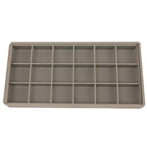 Storage Box 18 Compartment Organizer Tray Compact Small Items See Thru Lid