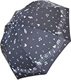 傘 レディース おしゃれ (音符ブラック(03))