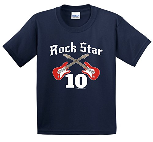 Ten Year Old Birthday Gifts 10th Birthday Gifts For All Rock Star Band Birthday Youth T-Shirt XL Navy (Old Navy Rock Star compare prices)